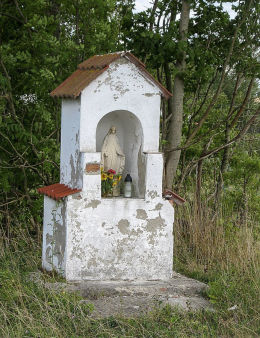 Kapliczka przydrożna. Darżyno, gmina Potęgowo, powiat słupski.