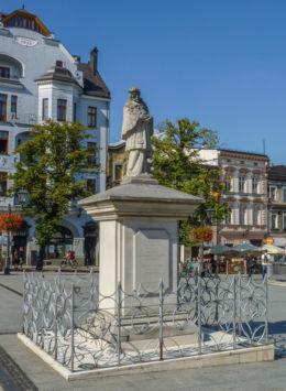 Figura św.Jana Nepomucena na Rynku. Bielsko-Biała, Bielsko-Biała.