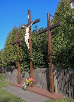 Przydrożny krzyż. Hutki, gmina Konopiska, powiat częstochowski.