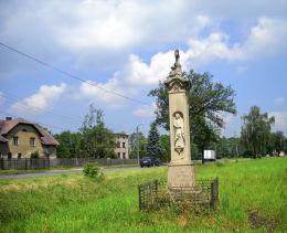 Przydrożny krzyż kamienny. Gostyń, gmina Wyry, powiat mikołowski.
