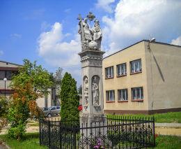Przydrożna kapliczka kolumnowa. Gostyń, gmina Wyry, powiat mikołowski.