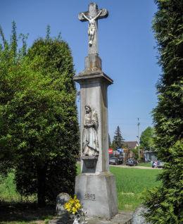 Krzyż przydrożny, z 1843 roku. Mikołów, Mokre, powiat mikołowski.