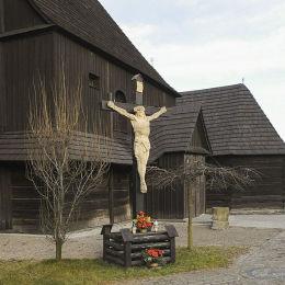 Krzyż przy Kościele św. Mikołaja. Mikołów, powiat mikołowski.