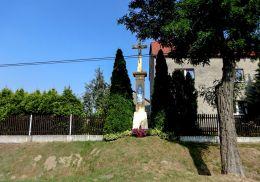 Przydrożny krzyż ufundowany przez Walka Roja w 1859 r. Orzesze, Zgoń, powiat mikołowski.