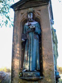 Kamienny krzyż z 1898 r. ufundowany przez panią Kocima. Orzesze, Zgoń, powiat mikołowski.