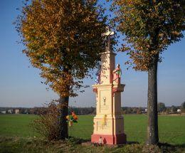 Krzyż przydrożny ufundowany przez Jakuba Kreta w 1867 r. Orzesze, Zgoń, powiat mikołowski.