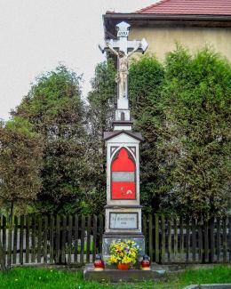 Krzyż przydrożny z 1904 r. Orzesze, Zawada, powiat mikołowski.