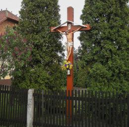 Przydrożny krzyż drewniany. Orzesze, powiat mikołowski.