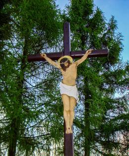Przydrożny krzyż na Górce św.Wawrzyńca. Orzesze, powiat mikołowski.