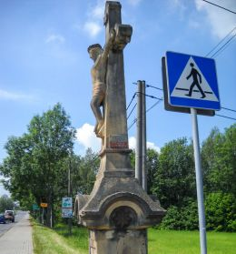 Przydrożny krzyż kamienny. Wyry, powiat mikołowski.