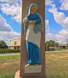 Przydrożny krzyż - Boża Męka z 1839 r. stojący przy ulicy Wyzwolenia, róg Spokojnej. Kryry, gmina Suszec, powiat pszczyński.