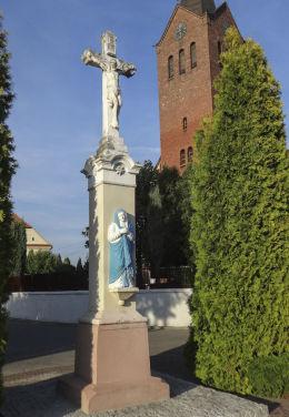 Krzyż przydrożny, kamienny z w 1866 roku. Suszec, powiat pszczyński.