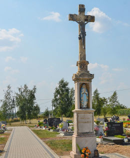 Krzyż cmentarny,  ul. Josepha von Eichendorffa. Łubowice, gmina Rudnik, powiat raciborski.