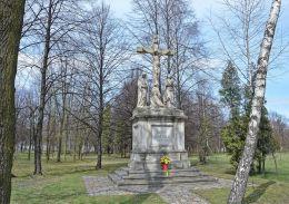 Figura Jezusa ukrzyżowanego - fundator K. Pokorny Kattowitz 1902 r. Ruda Śląska, Chebzie, Ruda Śląska.