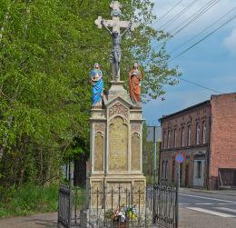 Przydrożny krzyż kamienny. Ruda Śląska, Bielszowice, Ruda Śląska.