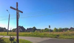 Drewniany krzyż przydrożny. Czerwionka-Leszczyn, Rybnik.