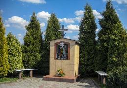 Kapliczka domkowa z Madonną. Czuchów, gmina Czerwionka Leszczyny, powiat rybnicki.