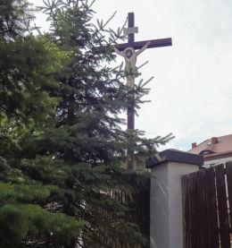 Krzyż przydrożny przy ulicy Gen. Józefa Hallera 19. Rybnik, Rybnik.