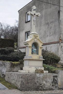 Krzyż przydrożny. Kamieniec, gmina Zbrosławice, powiat tarnogórski.