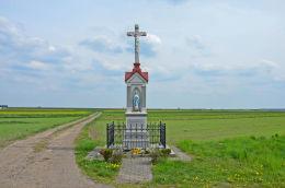 Krzyż przydrożny, fundator Johann Majerczyk 1903. Świętoszowice, gmina Zbrosławice, powiat tarnogórski.