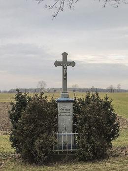 Przydrożny krzyż z 1876 roku. Wieszowa, gmina Zbrosławice, powiat tarnogórski.