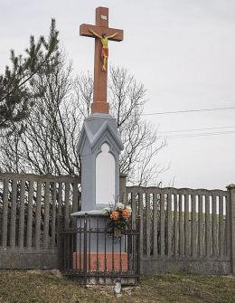 Krzyż przydrożny. Zbrosławice, powiat tarnogórski.