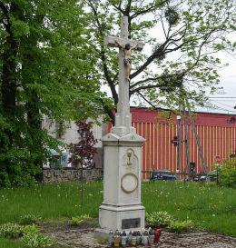 Przydrożny krzyż kamienny. Rydułtowy, powiat wodzislawski.