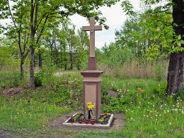 Przydrożny krzyż kamienny. Zabrze, Makoszowy, Zabrze.