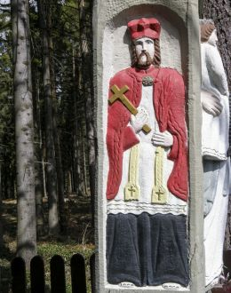 Przydrożna kapliczka kolumnowa. Laliki, gmina Milówka, powiat żywiecki.