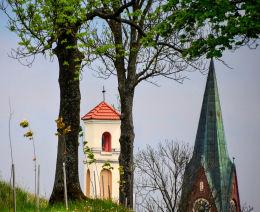 Kapliczka przydrożna. Gietrzwałd, powiat olsztyński.