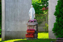 Figura Matki Bożej. Łęgajny, gmina Barczewo, powiat olsztyński.