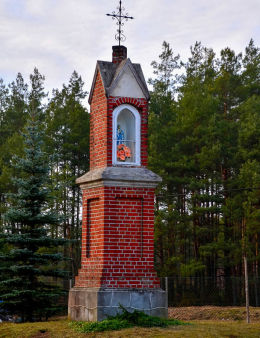 Kapliczka przydrożna. Przykop, gminia Purda, powiat olsztyński.
