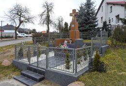 Przydrożny krzyż murowany. Atanazyn, gmina Szamocin, powiat chodzieski.