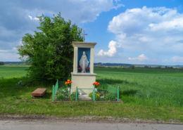 Kapliczka przydrożna murowana. Nietuszkowo, gmina Chodzież, powiat chodzieski.