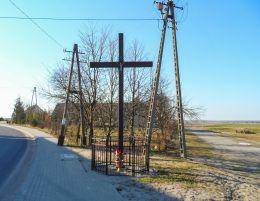Krzyż przydrożny. Podstolice, gmina Budzyń, powiat chodzieski.