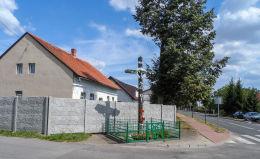 Krzyż przydrożny. Wyszyny, gmina Budzyń, powiat chodzieski.