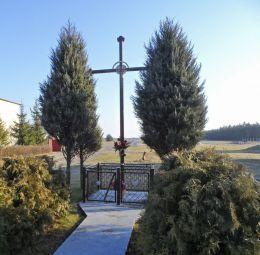 Przydrożny krzyż. Zacharzyn, gmina Chodzież, powiat chodzieski.