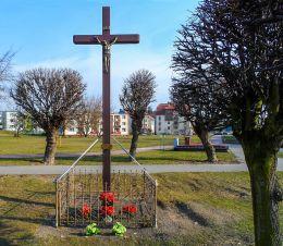 Krzyż przydrożny drewniany. Czarnków, czarnkowsko-trzcianecki.