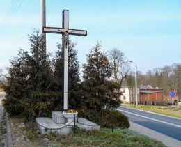 Krzyż przydrożny. Kuźnica Czarnkowska, gmina Czarnków, czarnkowsko-trzcianecki.