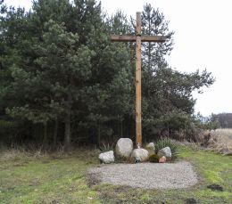 Przydrożny krzyż. Stobno, gmina Trzcianka, czarnkowsko-trzcianecki.