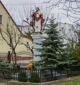 Przydrożna kapliczka słupowa przy ul. Ludwiczaka. Gniezno, powiat gnieźnieński.