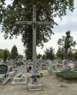Krzyż na cmentarzu parafialnym. Niechanowo, powiat gnieźnieński.