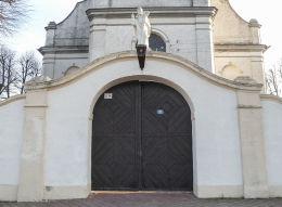 Brama z figurą św. Stanisława z XVIII w. Żytowiecko, gmina Poniec.