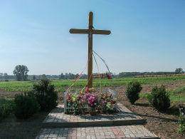 Krzyż przydrożny. Puszczykowo, gmina Kamieniec, powiat grodziski.