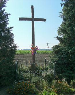 Krzyż przydrożny na rozstaju dróg do Krzywinia i Wojnowic. Gryżyna, gmina Kościan, powiat kościański.