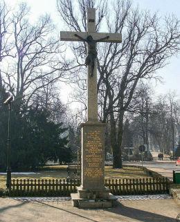 Krzyż przydrożny ufundowany na rok jubileuszowy 2000. Krotoszyn, powiat krotoszyński.