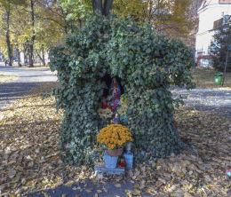 Grota z figurą świętą przy ulicy Świętokrzyskiej. Leszno, Leszno.