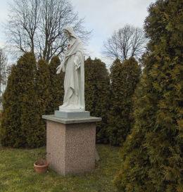 Figura Chrystusa przy kościele parafialnym Miłosierdzia Bożego. Wąsowo, gmina Kuślin, powiat nowotomyski.