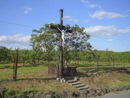 Przydrożny krzyż. Krostkowo, gmina Białośliwie, powiat pilski.