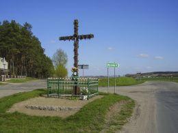 Krzyż na rozstaju dróg. Rudna, gmina Wysoka, powiat pilski.